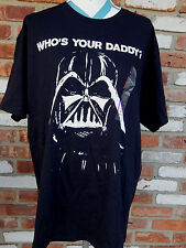 WHOS YOUR DADDY STAR WARS XL Darth Vader Graphic Mens T-Shirt NWT Mad Engine