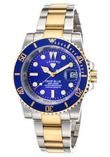 @NEW Legend LD-1001-SG-33 Deep Blue Two-Tone SS Blue Dial Gold Tone Quartz Watch
