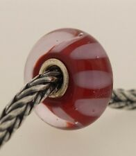 Authentic Trollbeads Retired Lilac Shadow 61161 New Glass Charm Bead