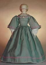 "15-16""ANTIQUE CHINA HEAD/PARION FRENCH LADY DOLL@1850s DRESS&UNDERWEAR PATTERN"