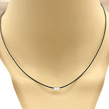 Flawless Women Leather PU Cord Triangle Design Pendant Chain Necklace Jewelry
