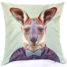 Home Decor Office Cotton Linen Kangaroo Man Tie Cushion Cover Pillow Sofa 45cm