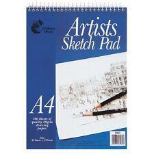 Chiltern Wove 100 Fogli A4 Spirale ARTISTA BLOCCO DA Disegno Carta alta qualità