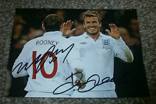 David Beckham & Wayne Rooney - Signed Photo - England / Man United / Madrid