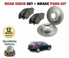 Vw Volkswagen Golf 4 1999-2004 1.9 Tdi Freno Trasero Discos Set + Almohadillas De Disco Kit