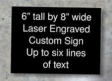 "Custom 6""x8"" Laser Engraved Plastic Sign For Home Or Business"