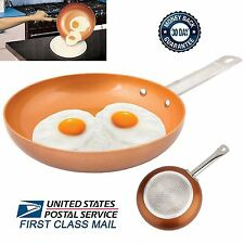 Non-Stick Copper Frying Pan with Ceramic Coating 9.5'' Skillet As Seen on TV