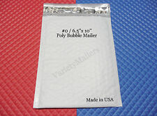 "30 POLY BUBBLE POSTAL MAILING ENVELOPES #0  6.5""x10"" SELF-SEALING ~ MADE IN USA!"