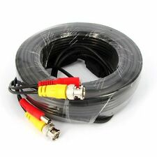 30m CCTV Camera BNC Video & DC Power Surveillance Cable DVR RCA Cable Wire Lead