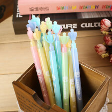 2x Cute  Students Propelling Crown Mechanical Automatic Pencil Pen Stationary