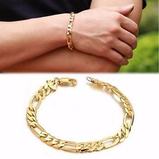 Women Men Punk Cool Stainless Steel Chain Cuff Bracelet Link Bangle Wristband