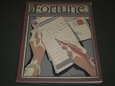 1935 AUGUST FORTUNE MAGAZINE - GREAT COVER & ADS - F 66