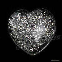 600x Charms Heart Clear Silvery Rhinestones Flatback Embellishments Fit Crafts C