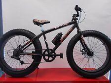 bici bicicletta mtb fat bike bambino misura 24 nero opaco disco freno