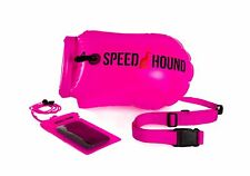 Open Water Swimming Safety Buoy With Dry Bag and Cell Phone Case -Pink