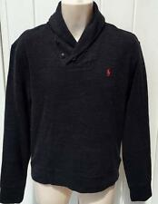 Ralph Lauren Mens Polo french rib cotton shawl sweater sweatshirt gray small nwt
