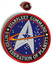 "Star Trek Starfleet Command UFP 0.75"" Pin & 4"" Patch Set of 2-FREE S&H"