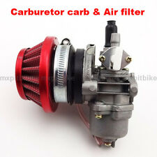 Carburetor Carb & Red Air Filter Stack 2 Stroke 47cc 49cc Mini ATV Dirt Bike