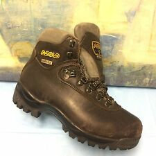 WOMENS ASOLO RAINER BROWN LEATHER HIKING TRAIL ANKLE BOOTS SZ 8
