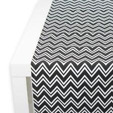 APART Tischläufer Tablerunner ZIMBA ca. 40/150 cm schwarz/weiß aus Baumwollstoff