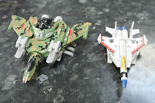 vintage Hasbro Takara Transformers CAMO DECEPTICON JET FIGHTER & STARSCREAM