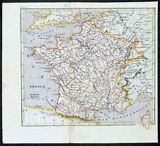 1810 Darton Antique French Map of France in Departments