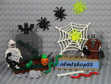 LEGO - 18 pcs Lot Halloween Zombie Monster Mummy Minifigure Jack O' Lantern Bone