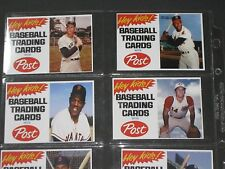 MICKEY MANTLE WILLIE MAYS Post Cereal Advertising Baseball Card LOT READ LISTING