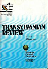 Transylvanian Review Summer 1992 Mihai Eminescu Medieval History