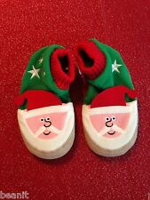 Hanna Andersson Warm Fleece Slipper Boot Christmas Santa Brand New Size 11/12..
