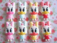 8 x Mixed Cute Baby Daisy Duck Flatback Resin Embellishment Crafts Hairbow  UK