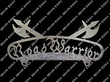 Road Warrior License Plate Frame Topper Hot Rat Rod Creep Greaser Rockabilly