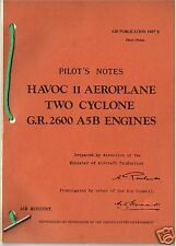 PILOT'S NOTES: HAVOC II RAF NIGHT FIGHTER (37 Pages)+FREE 2-10 PAGE INFO PACK
