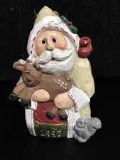 Eddie Walker Original Wood carved SANTA with Reindeer Retired 1997 NEW