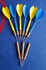6 dardos de plastico y laton + 3 puntas sin pluma con punta dura de metal acero