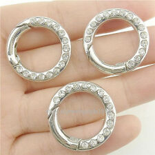 17668*4PCS Ring Connector for Punk Bracelet Necklace Making Rhinestone Clasp