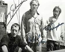 Jaws Shaw Scheider Dreyfuss signed 8X10 photo picture poster autograph RP 2