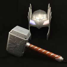 Superhero Kids Children Costume Mask Halloween Party Toy Shine Thor Hammer Gift