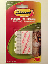 COMMAND 17024 Small Picture/Poster/Photos Hanging Strips Pk12 Holds up to 0.5kg