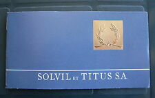 VINTAGE LIBRETTO GARANZIA SOLVIL et TITUS WATCH INUSATA WARRANTY BOOK NEVER USED