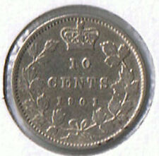 1901 Canada 10 Cents VF-20