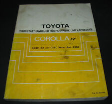 Werkstatthandbuch Toyota Corolla AE80 / AE 82 / CE 80 Stand April 1983!