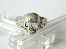 Memento Mori Silver 800 RING Size 9 pre-1950 Remember You Are Mortal