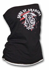 Authentic Sons Of Anarchy Red Reaper Tube Top Girls Juniors Soa Biker Shirt Xl
