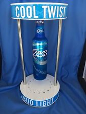 Light Up Levitating Bud Light Spinning Aluminum Bottle Light beer bar pub