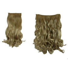 Hair Extensions  Clip In 2 Piece POP Hair Curly Wavy Honey Blonde Fashion 21""