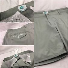 Teal Cove Shorts Size 34 (38 actual) Army Green Poly Lycra Flat Mint YGI 58pp