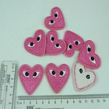 3pcs Embroidered Cloth Iron On Patch Sew Motif Applique Heart eyes  Y6