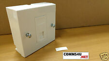RJ11 TELEPHONE SOCKET MODULE FACEPLATE FAX ADSL MODEM US EURO PRESSAC + BACK BOX