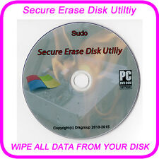 hard drive delete Wipe format Erase secure removal of data on any disk Boot DVD